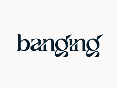 Banging typography type letters lettering letter logodesign logotype icon logo
