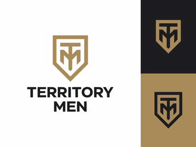 Territory of men emblem letters shield lettering monogram symbol logodesign logotype sign icon logo