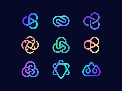 The Body Sculpt Club icons emblem lettering monogram letter symbol logodesign logotype sign icon logo