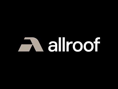 A - allroof roof emblem monogram letter symbol a logodesign logotype sign icon logo