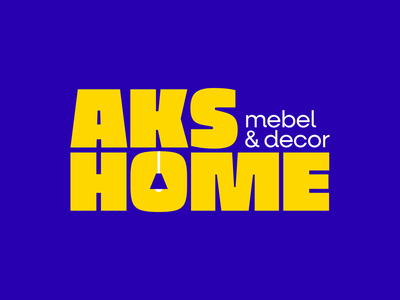 AKS HOME letters emblem lettering symbol logodesign logotype mebel decor logo furniture home