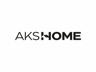AKS HOME monogram letter typography sign icon lettering wordmark logodesign logotype logo roof house home