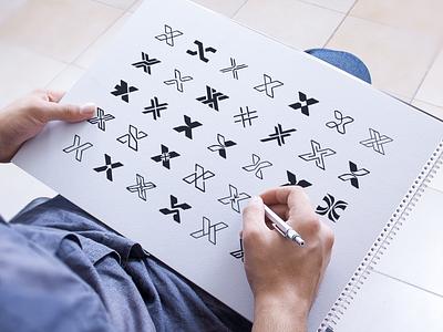 X Sketches x monogram symbol logodesign logotype sign icon logo sketches sketch