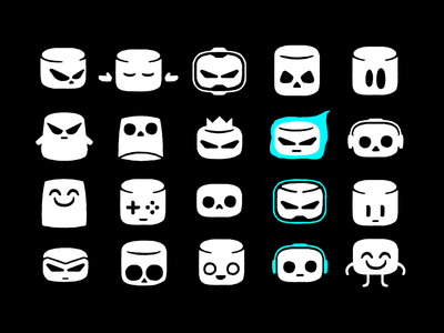 marshmallow sketches mascot user face symbol logodesign logotype sign icon logo marshmallow