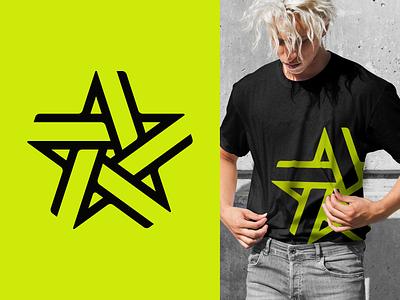 Star hub winner connection star pictogram symbol logodesign logotype sign icon logo