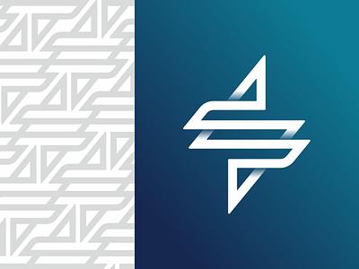 S - Bolt connection link loop bolt s letter monogram symbol logodesign logotype sign icon logo