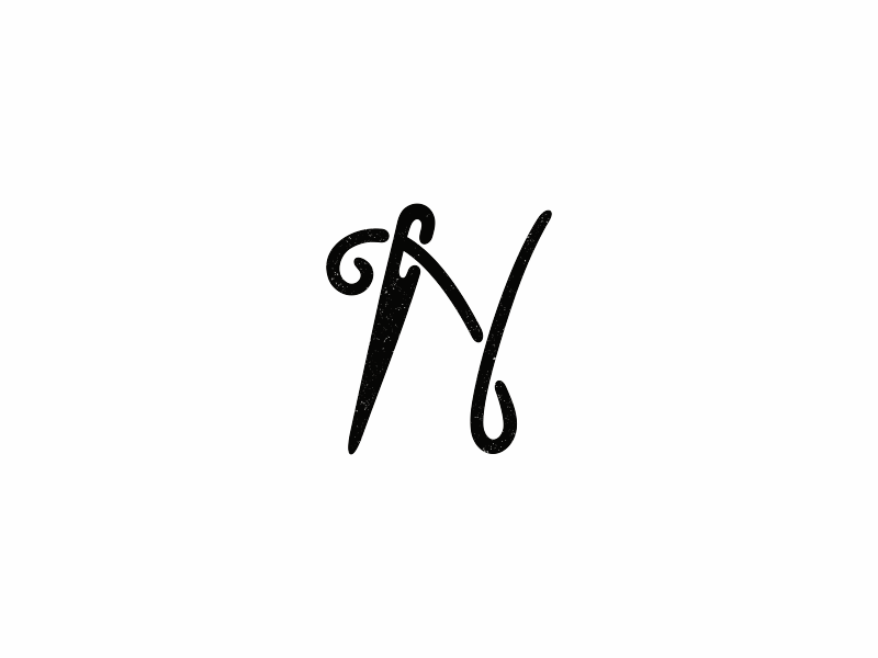 N / Needle / Alphabet 2 letter logoazbyka icon sign logo needle n