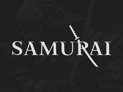 Samurai font icon sign logo letterin sword katana samurai