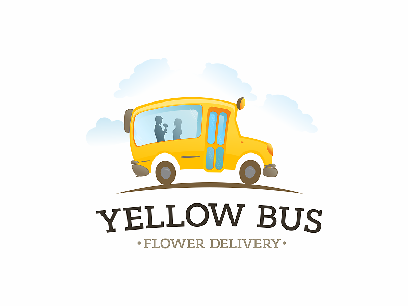 yellow bus by tick ϟ style dribbble dribbble