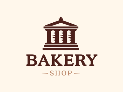 Barkey Shop sign icon logo bakery shop bread loaf rome