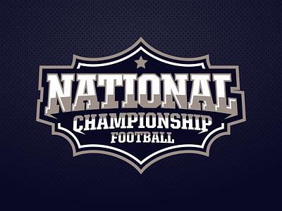 National Championship emblem sport game tournament football campionship national