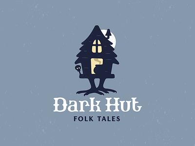 Durk Hut babayaga logo witch woods night moon mystic folktales hut forest dark