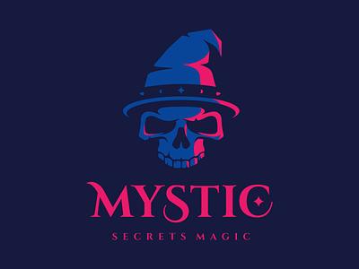 Mystic magic halloween logo logotype death skull mystic tales
