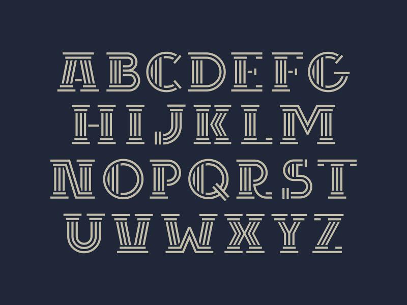 Rome FONT serifs column greece rome type typeface font design