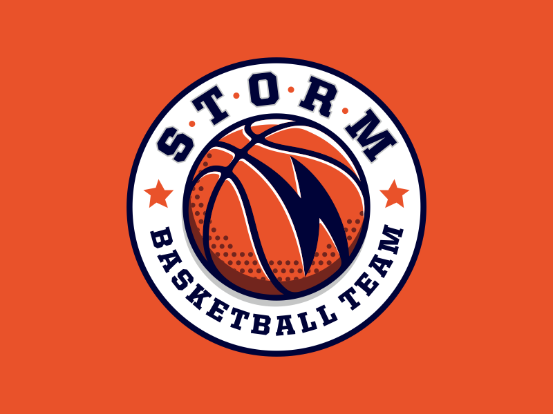 Storm storm logotype logo lightning icon game basketball basket ball