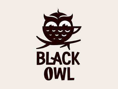 Black owl coffee logodesign logotype emblem symbol sign icon logo bar cafe coffee owl black