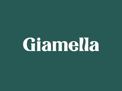 Giamella packaging cafe coffee lettering logodesign logotype logo