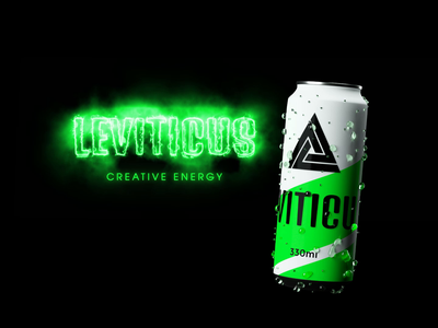 Leviticus energy drink energy drink leviticus graphic design 3d design animation brand design agency south africa content creation branding