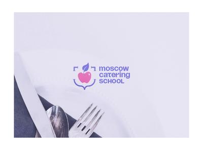 Moscow Catering School — digital identity food catering academy school courses digital visual identity brand identity brand design branding logo design logo design