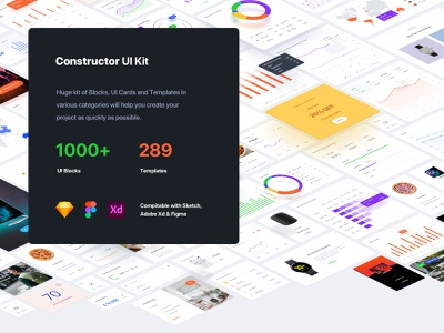 Constructor UI Kit figma sketch adobe xd interface web ux templates download ui kit