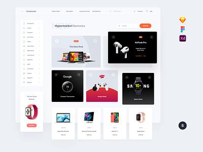 Electronic Shop kit template symbols adobe xd ui kit interface web ui sketch ux