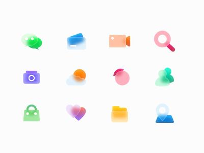 Free Glass Icons sketch figma xd kit iconkit iconset icons icon download freebie freebies free glass