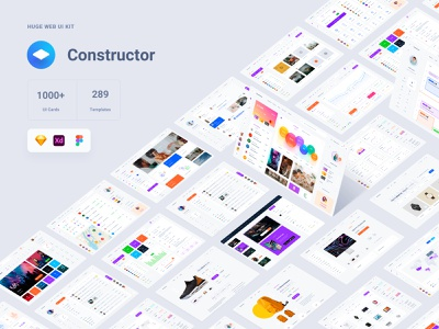 Free Update Constructor sketch adobe xd symbols kit template ui kits ui kit web interface panels admin dashboad