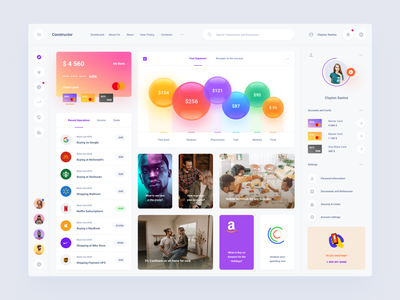 Bank Template adobexd figma sketch dashboard design ui download interface bank template dashbaord