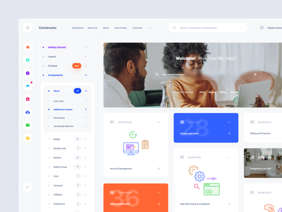 Knowledge Base ui blocks kit symbols template interface web ui download sketch adobe xd figma ui kit dashboard