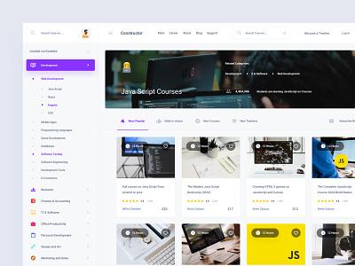 Online Courses Platform adobe xd ui kit ui ux interface web sketch figma xd download template dashboard app dashboard ui dashboad