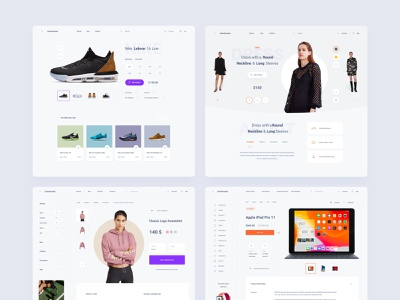 Commerce Templates design template adobe xd ui kit interface ui web ux product page product design web deisgn product