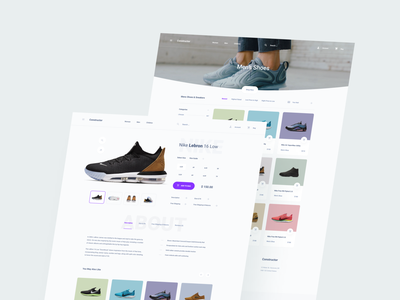 Shoes Store design adobe xd ui kit interface ui web ux sketch xd figma template store