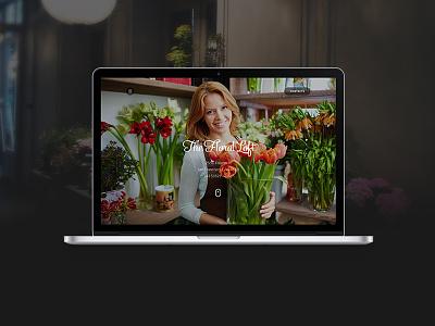 Flower Shop site landing page ux ui web psd landing ui kit