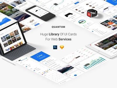 Quantum UI Kit ui cards quantum ux ui kit
