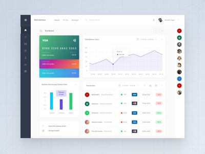 Bank Dashboard ui kit adobe xd xd adobe psd sketch template admin application app web dashboard