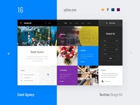 16 Ivent Agency, Section Design Kit