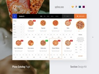 72 Pizza Catalog, Section Design Kit