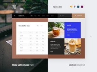 78 Coffee Menu, Section Design Kit