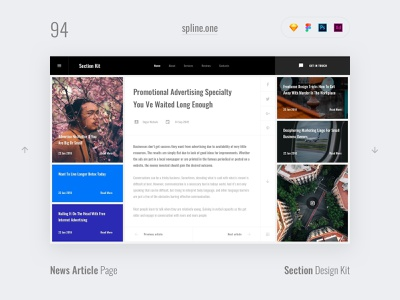 94 Blogs, Section Design Kit webdesigner dailyui landing page ui blocks symbols inspiration site interface kit psd ux ui uikit donwload web figma adobe xd sketch photoshop template