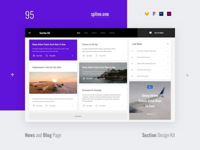 95 Blogs, Section Design Kit webdesigner dailyui landing page ui blocks symbols inspiration site interface kit psd ux ui uikit donwload web figma adobe xd sketch photoshop template