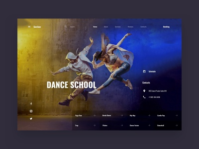 Dance School interface web ui sketch ui kit ux