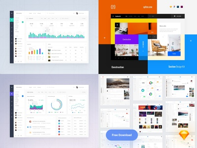 Top 2018 app download dashboard donwload dailyui site photoshop landing page template ui blocks symbols adobe xd kit psd ui kit interface web ui sketch ux