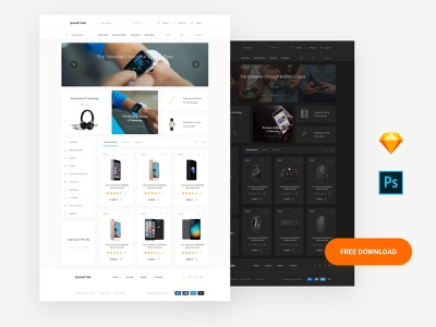 Free Commerce Web Page uikit donwload site photoshop template ui blocks symbols adobe xd ui kit kit psd interface ui web sketch ux download gumroad free ui free