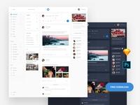 Free Web Social Template
