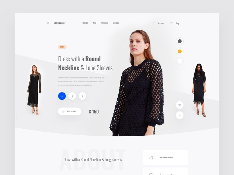 Product Page commerce ecommence psd interface ui web sketch ux