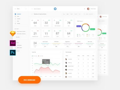 Free Dashboard Template ui blocks symbols ui kit ui kit adobe xd psd interface dashboard app download freebies template dashboard free
