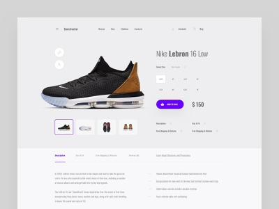 Product Page ux web ui commerce ecommerce