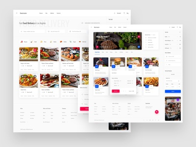 Food Delivery App psd ui8 interface admin dashboard base elements style guide symbols xd photoshop sketch ux kit ui kit download template ux ui