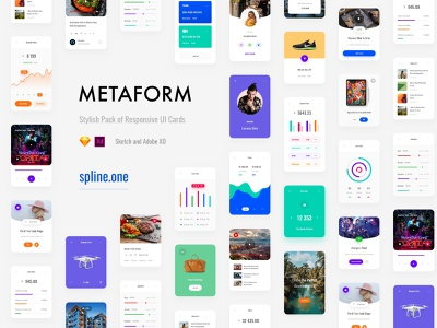 Metaform Responsive UI Kit grid bootstrap 4 responsive design responsive design dailyui uikit donwload ui blocks template symbols adobe xd ui kit interface web ui sketch ux