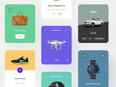 Product Cards uikit template ui blocks symbols kit adobe xd ui kit interface web ui sketch ux